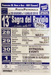 Sagra Del Raviolo - Geo In Festa 2018