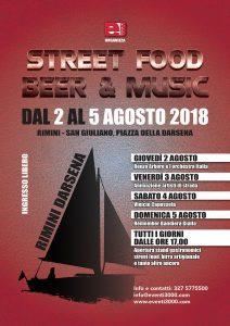 Street food, beer & music.