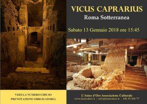 Visita guiidata Il Vicus Caprarius. Roma Sotterranea