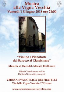 """""""Violino e pianoforte dal Barocco al Classicismo""""- Stagione concertistica 2018"""