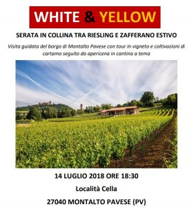 White & Yellow - Serata in collina tra Riesling e Zafferano Estivo