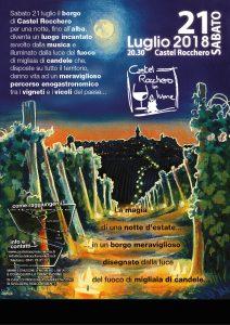 Castel Rocchero in lume