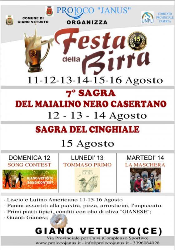 XI Festa della Birra e  VII Sagra del Maialino Nero Casertano