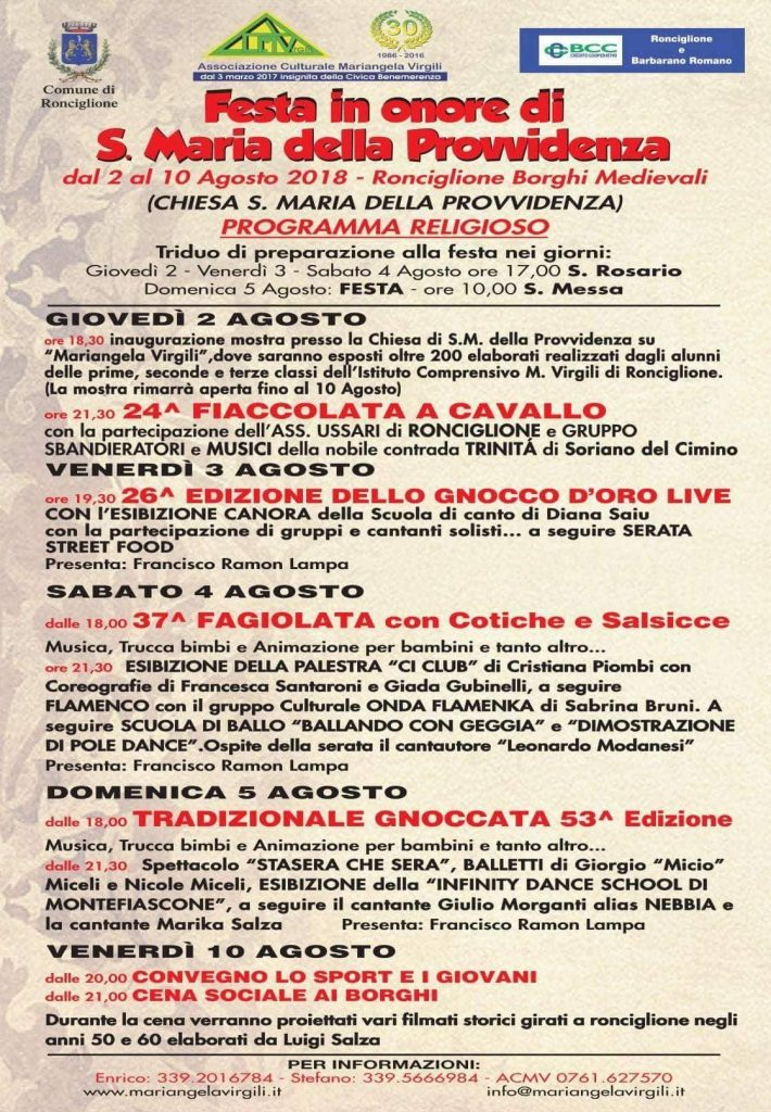 Festa di Santa Maria della Provvidenza