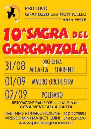 10° Sagra del Gorgonzola a Granozzo con Monticello