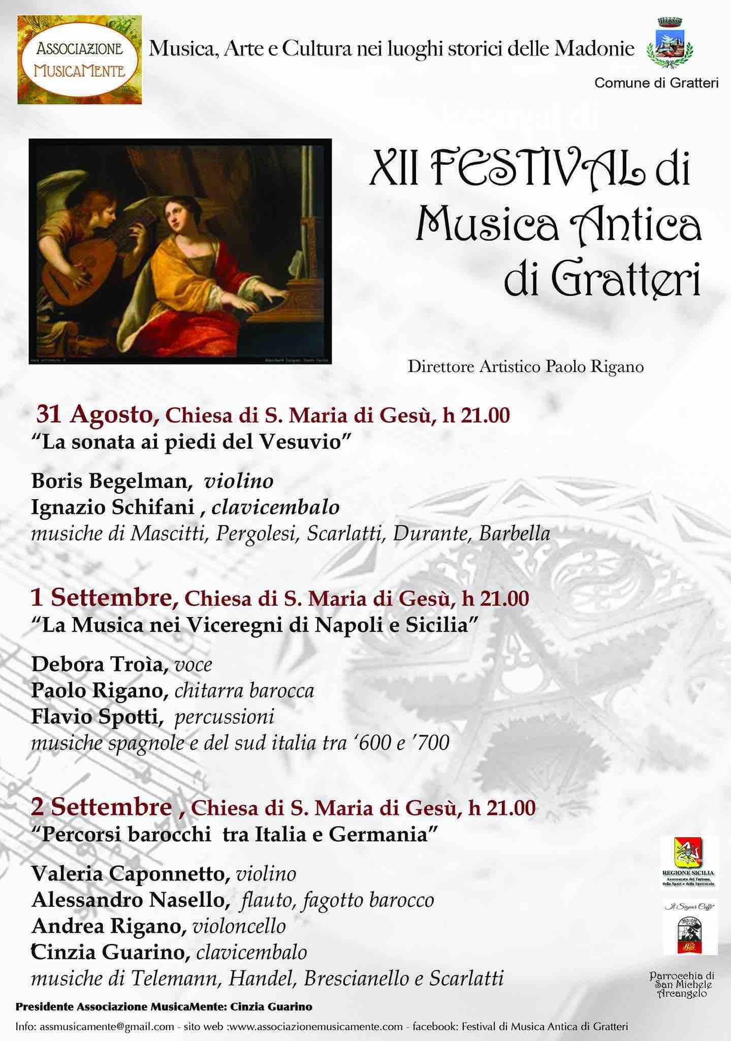 12° Festival di Musica Antica di Gratteri