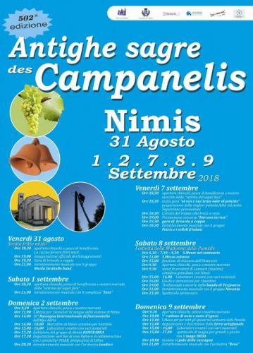 502° ediz. Antighe Sagre Des Campanelis di Nimis