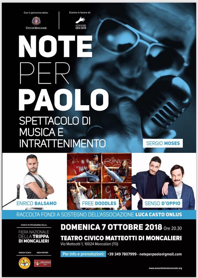 Note per Paolo 2018