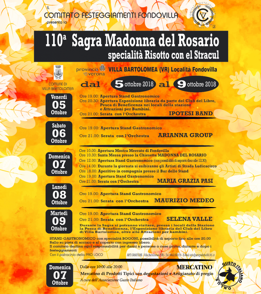 110° Sagra della Madonna del Rosario