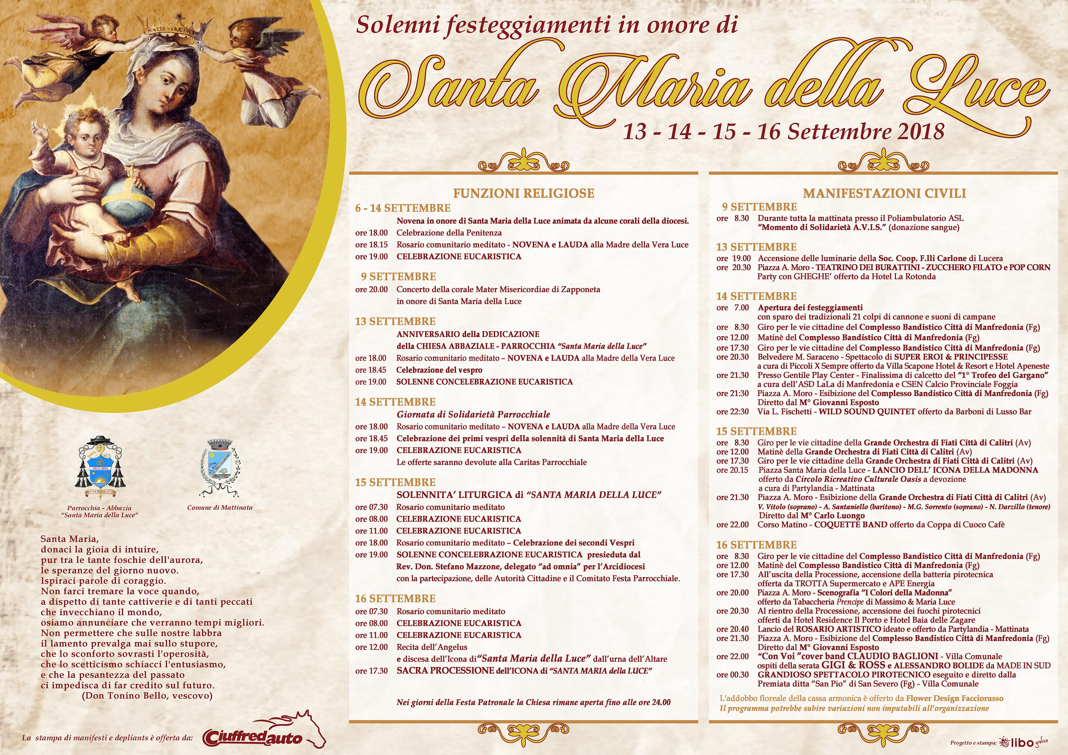 Festa Patronale Madonna della Luce