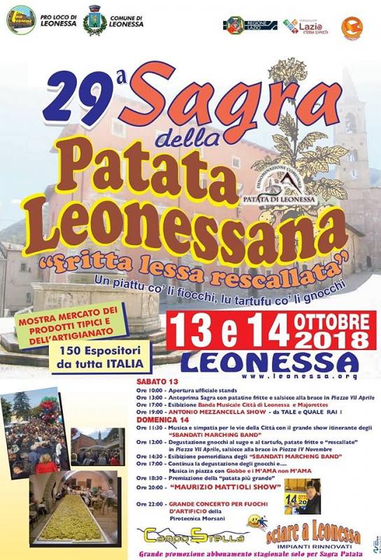 29° Sagra della Patata Leonessana