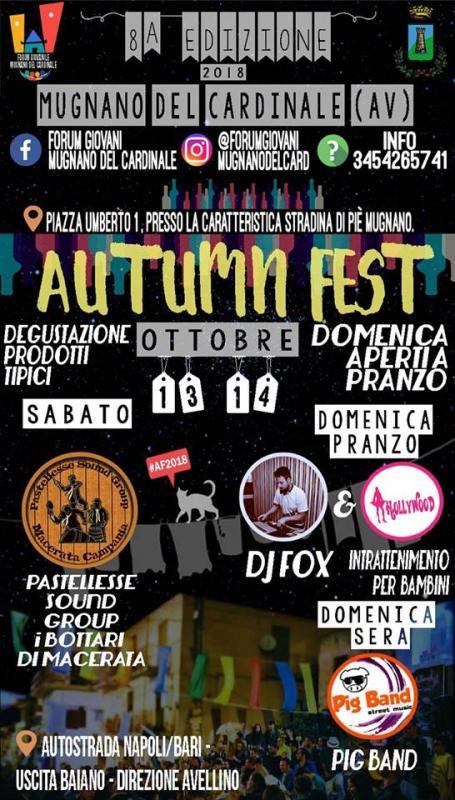 Autumn Fest 2018 - Degustazioni Prodotti Tipici