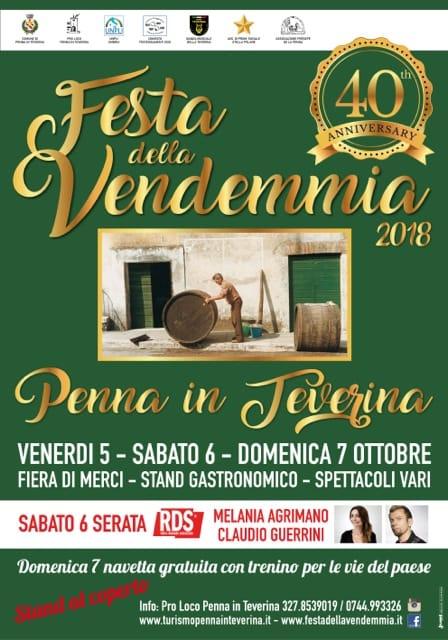 40° Festa della Vendemmia di Penna in Teverina