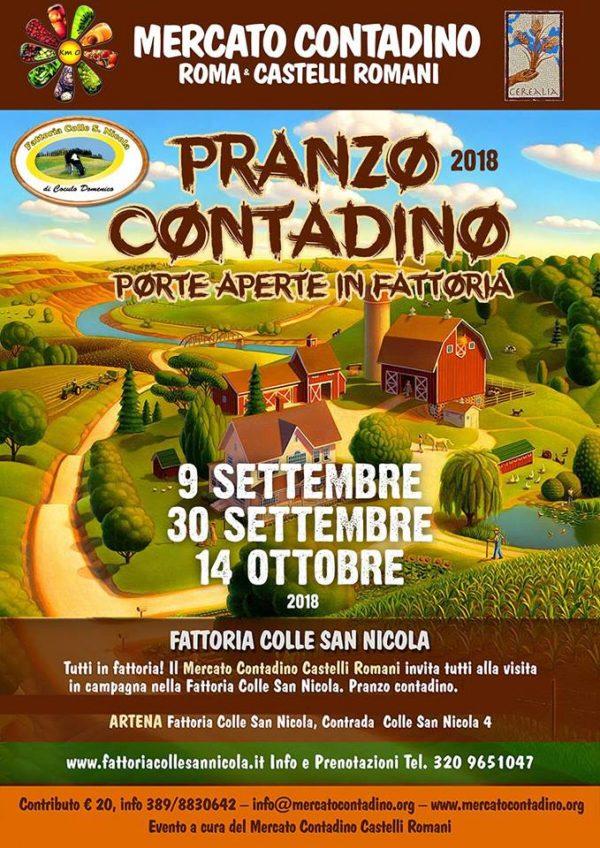Pranzo Contadino Artena 2018 - Porte Aperte in Fattoria