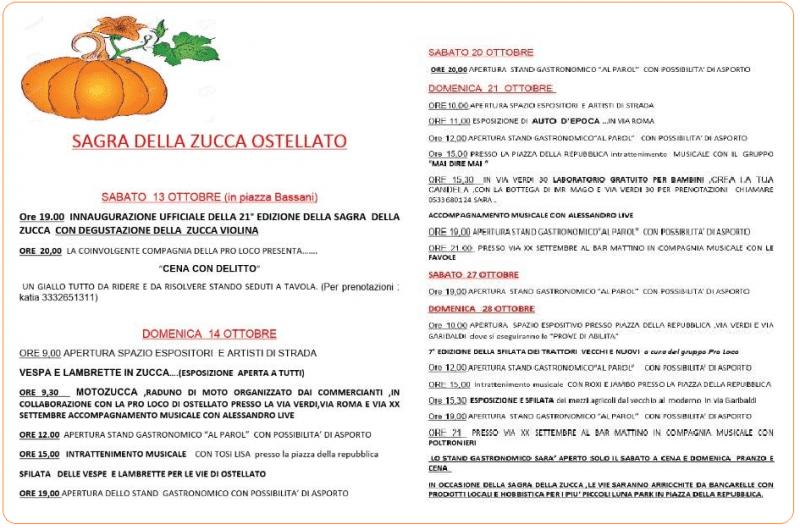 21° Sagra Della Zucca a Ostellato