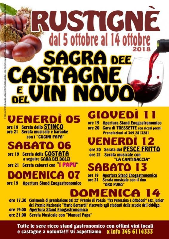 Sagra delle Castagne e del Vin Novo a Rustignè