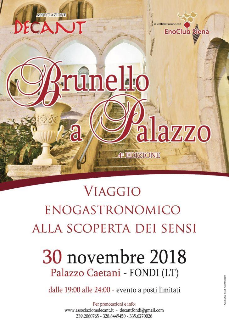 Brunello a Palazzo 2018
