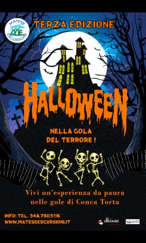 Halloween alle Gole di Conca Torta in notturna