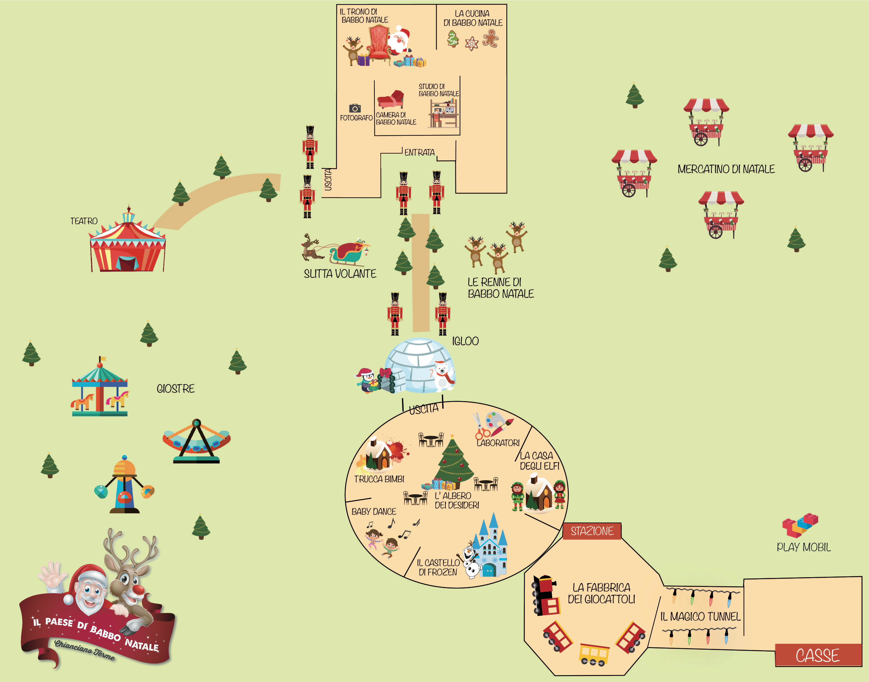 Babbo Natale Mappa.Il Paese Di Babbo Natale Italive