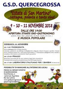 ESTATE DI SAN MARTINO... castagne, polenta e tanto vino!