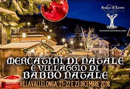 Villaggio di Babbo Natale e Mercatini a Villavalellonga