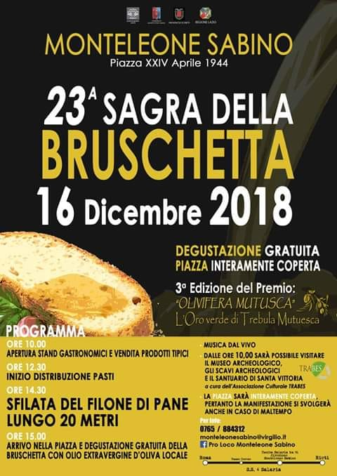 Sagra della Bruschetta - XXIII edizione