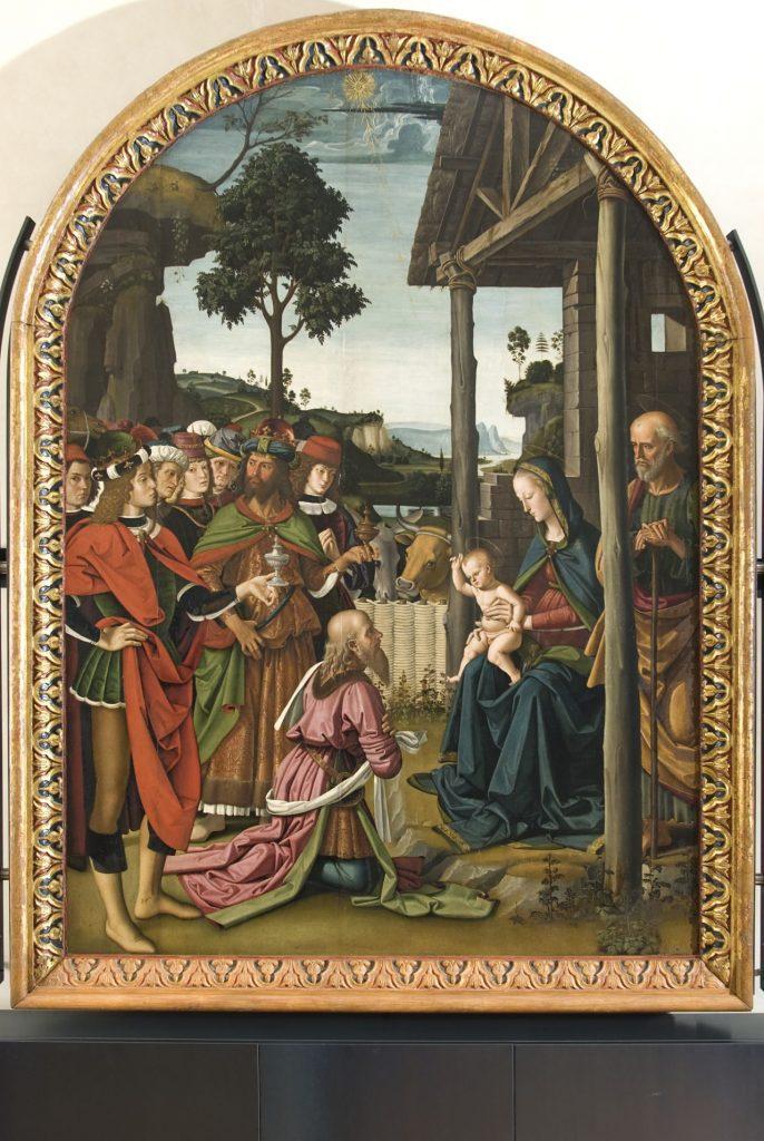 PERUGINO. L'Adorazione dei Magi a Palazzo Marino