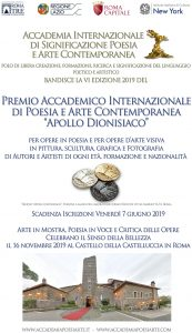 Premio Internazionale Apollo Dionisiaco - 5° edizione