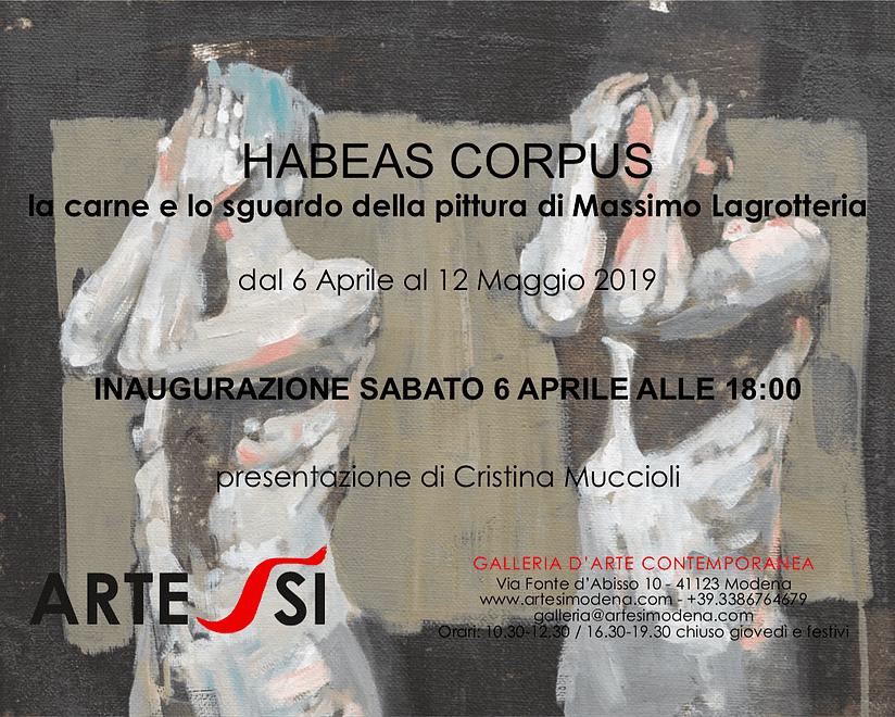 Habeas Corpus - Opere di Massimo Lagrotteria