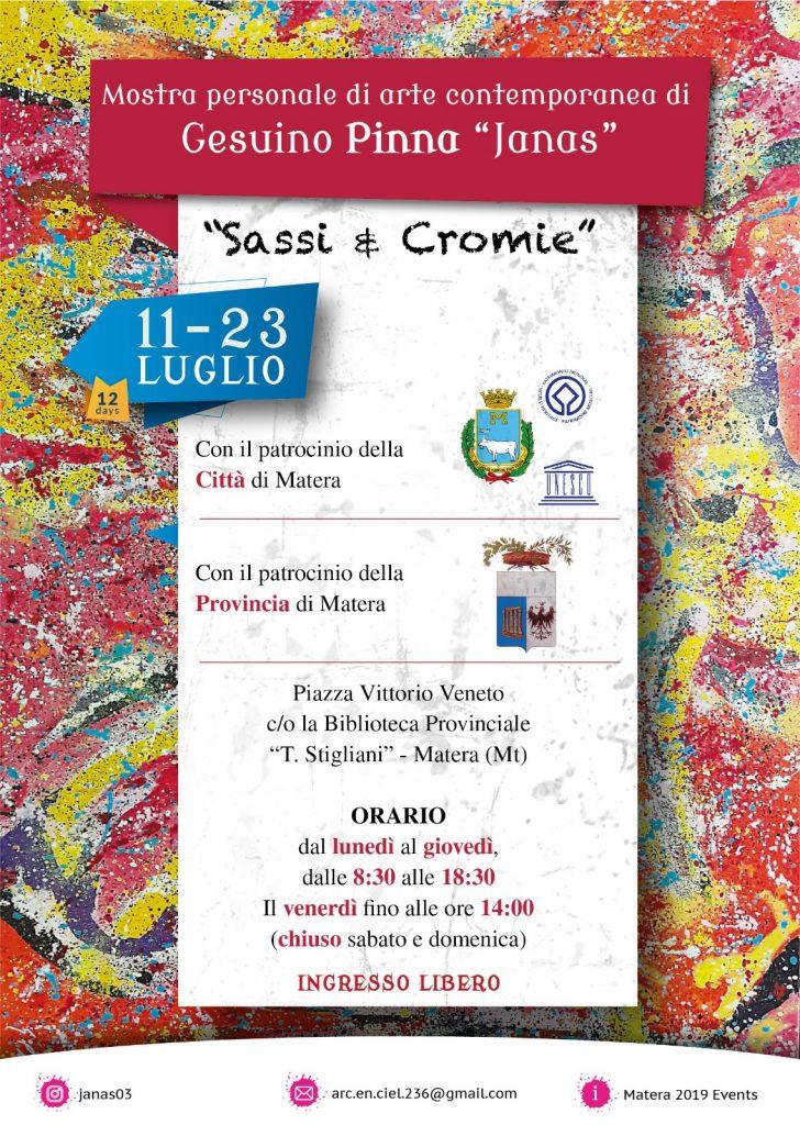 Sassi & Cromie - personale di Gesuino Pinna
