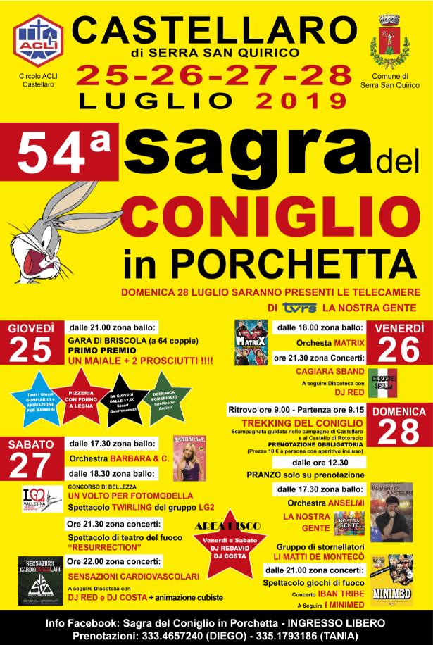 Sagra del Coniglio in Porchetta - 54° edizione