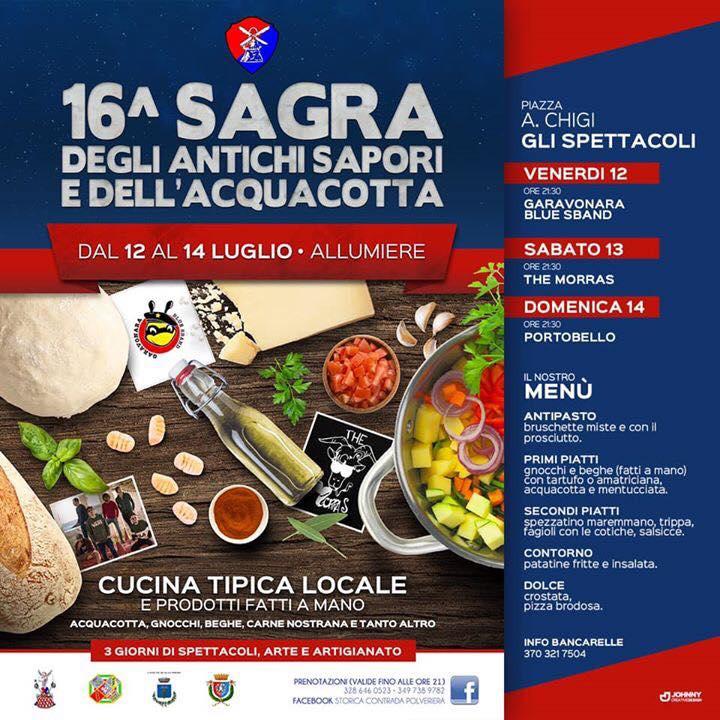 Sagra degli Antichi Sapori e dell'Acquacotta - 16° edizione