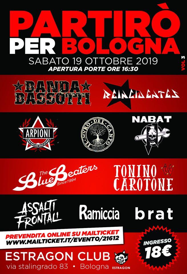 Partirò per Bologna all'Estragon - 3° edizione