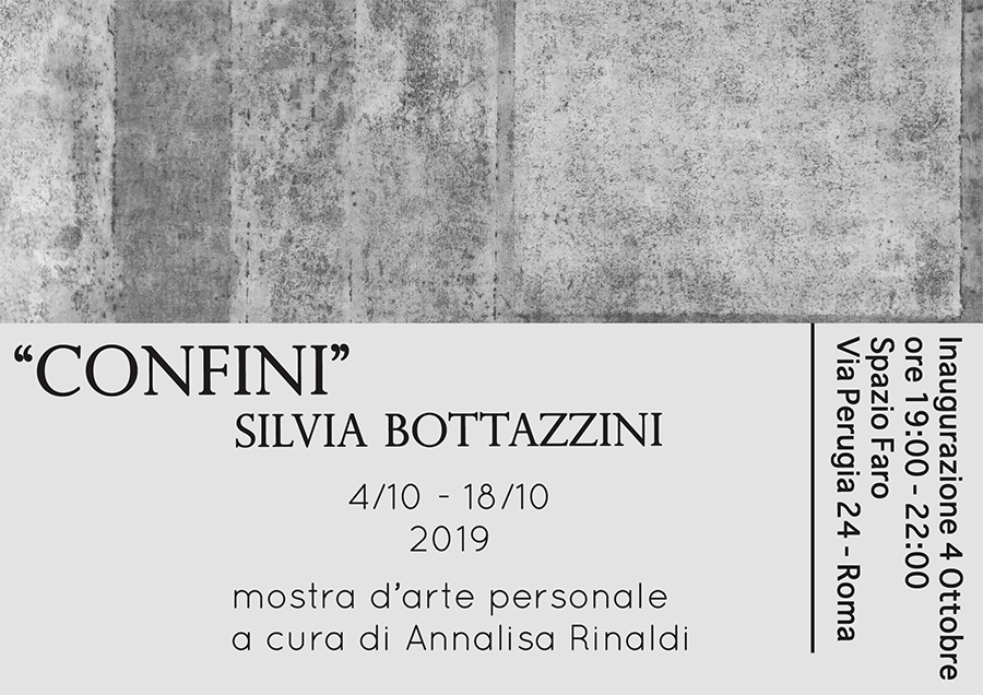 CONFINI - personale di Silvia Bottazzini
