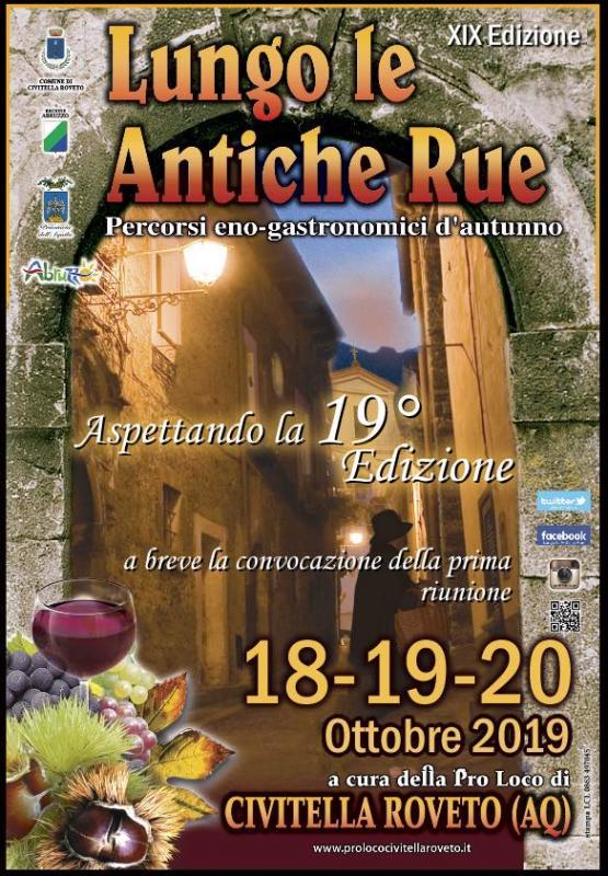 Lungo le Antiche Rue - 19° edizione