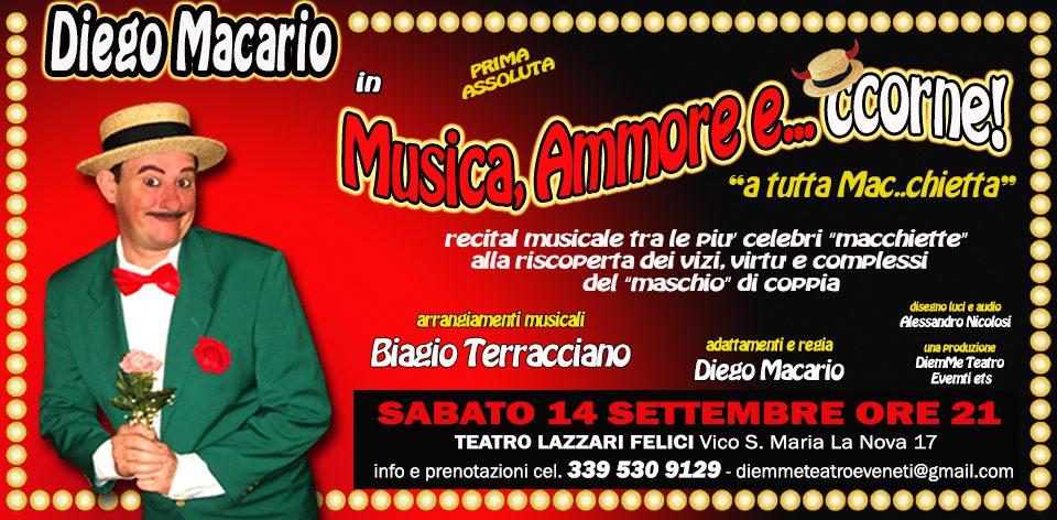 Musica Ammore e Ccorne di Diego Macario