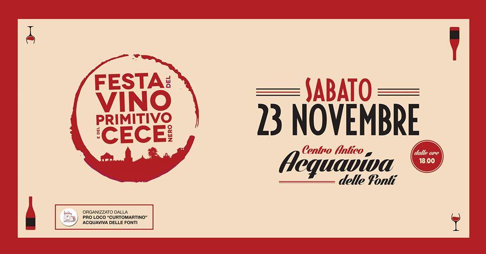 Festa Vino Primitivo e Cece Nero - 16° edizione