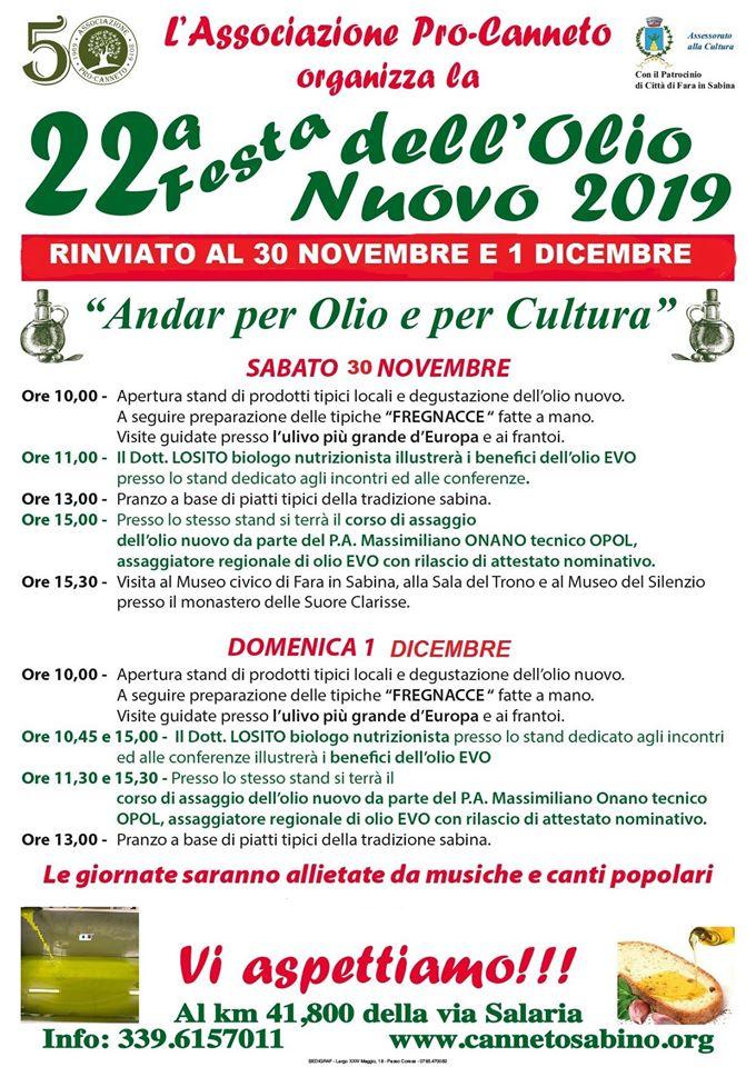 Festa dell'Olio Nuovo - 22° edizione