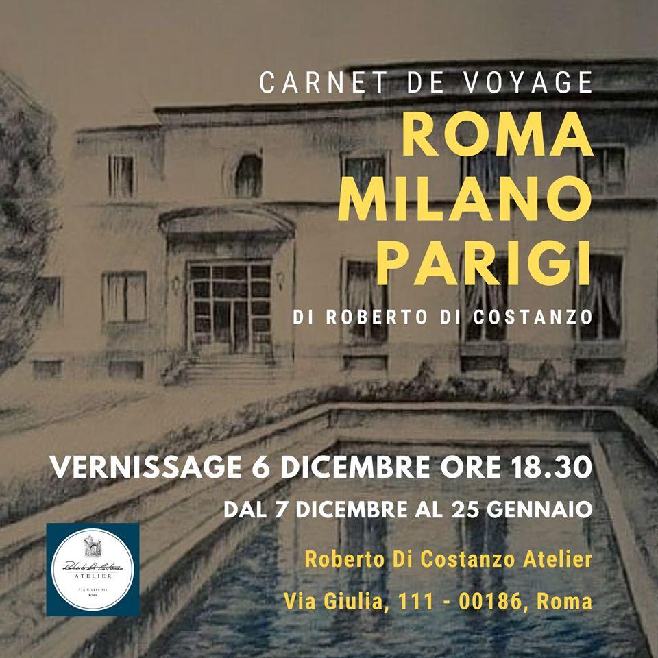 Carnet de voyage Roma - Milano - Parigi