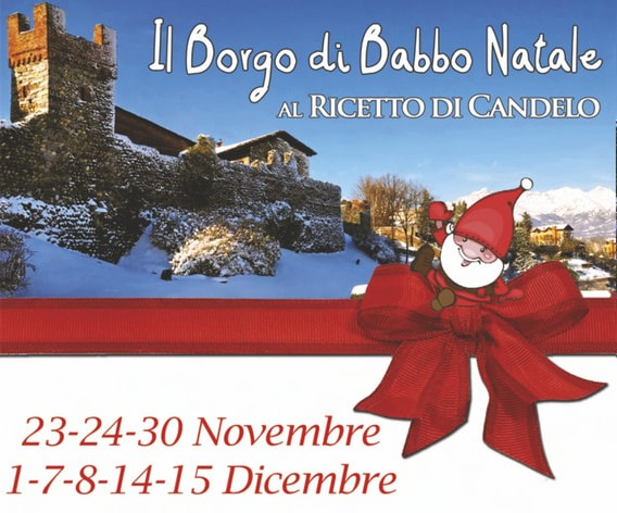 Il Borgo di Babbo Natale al Ricetto di Candelo 2019