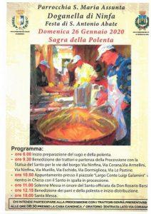 Sagra della Polenta Doganella di Ninfa - edizione 2020