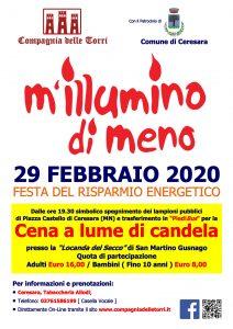 M'Illumino di Meno 2020 - Cena a Lume di Candela
