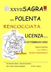 Sagra della Polenta Rencocciata - 27° edizione