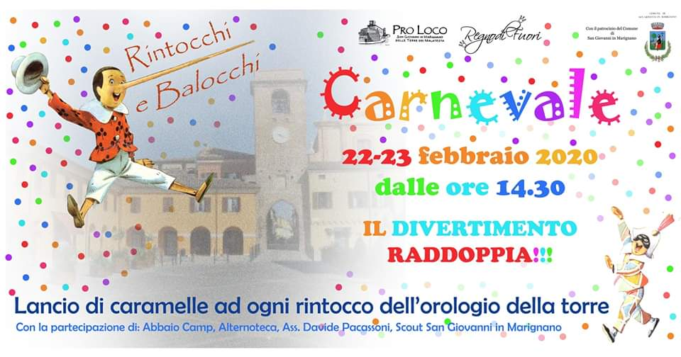 Carnevale a San Giovanni in Marignano - edizione 2020