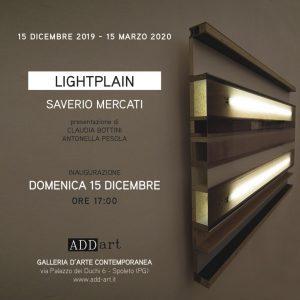 LIGHTPLAIN - personale di Saverio Mercati