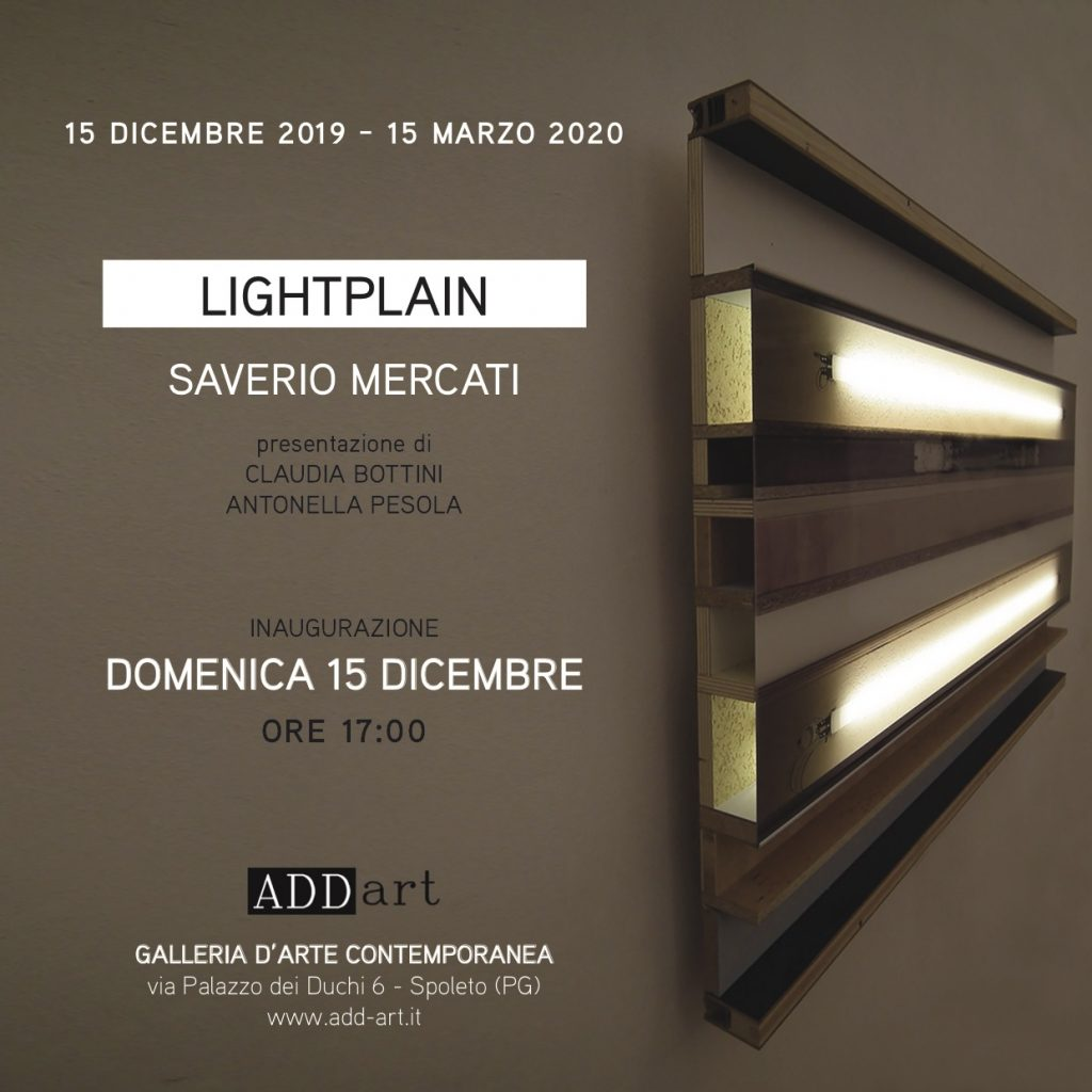 LIGHTPLAIN - personale di Saverio Mercati