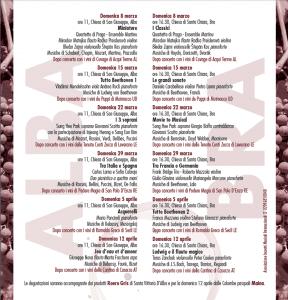 Bacco&Orfeo. I Concerti della Domenica - 15° edizione